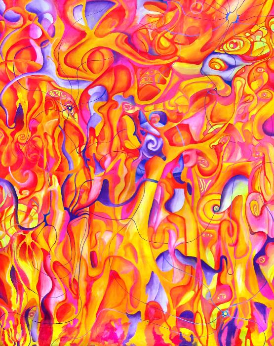 tuja-oxidentalis-230x167cm-acryl