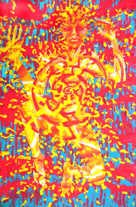 008-kabbala-5-geburah-strenght-70x100cm-acryl