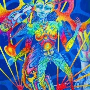 010-kabbala-7-netzach-victory-70x100cm-acryl-pastel
