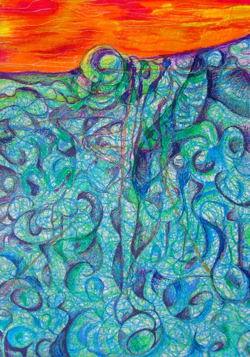 duality-axis-67x93cm-acryl-pastel