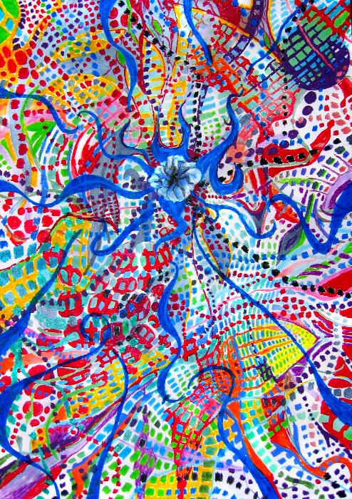 duality-eruption-67x93cm-acryl-pastel