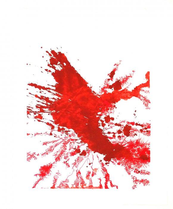 YANTRAM - TOR ROT 2 70x50cm INK