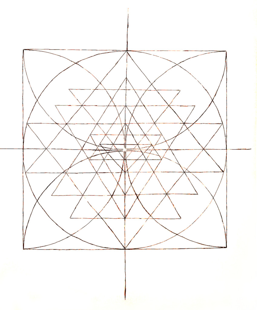 SRI YANTRA 150x133cm INK