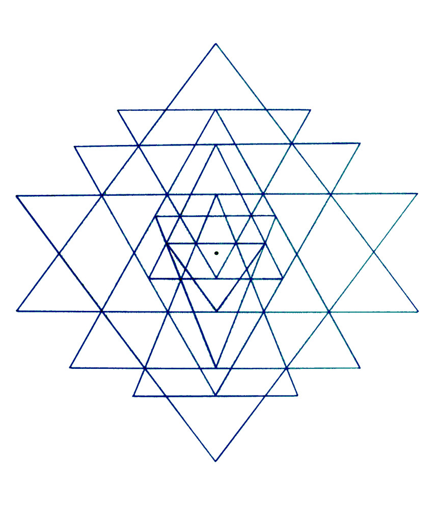 Sri Yantra 3-4-5proportions of the large triangles