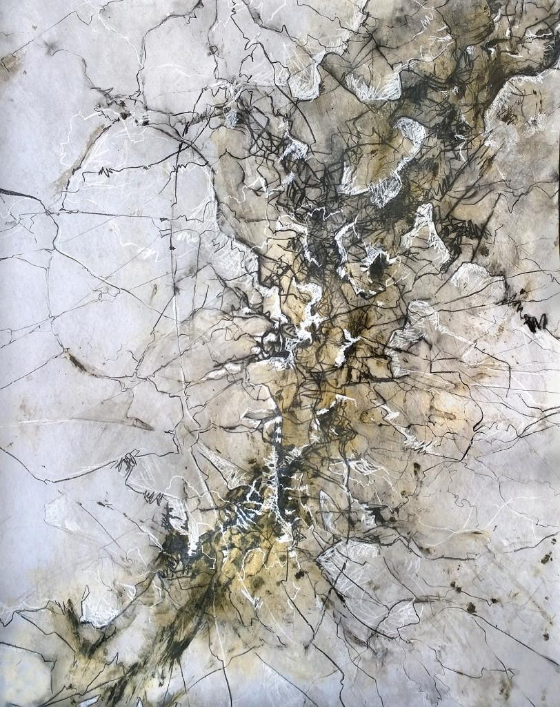 QUINTESENZ IV 130x150cm gouache graphit